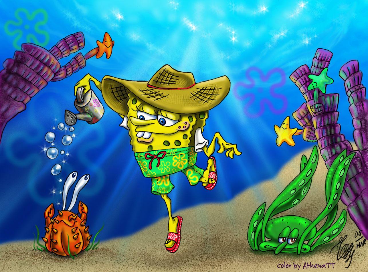 Spongebob's Garden Contest by