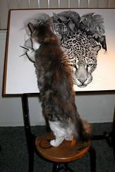 The Artist Hard At Work by AthenaTT