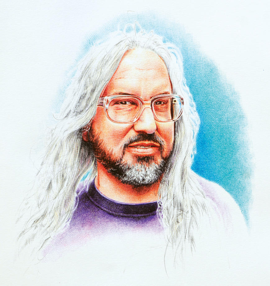 J Mascis- ball point pens on paper by paoloamico87