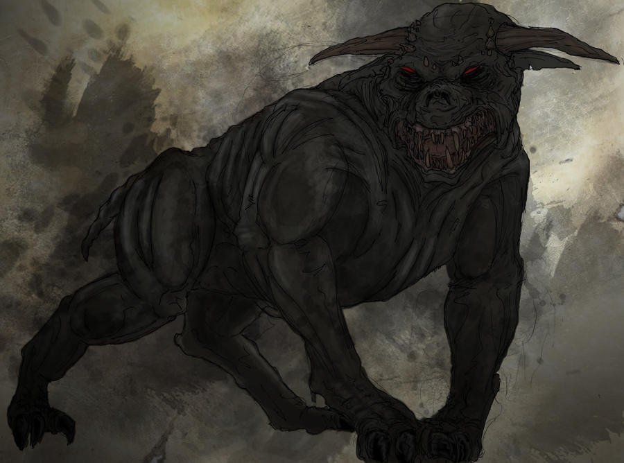 Ghostbusters - Gozerian Hound by T-RexJones