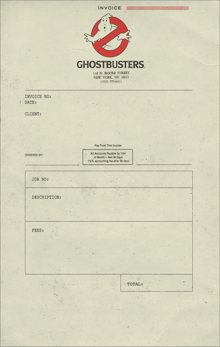 Ghostbusters Invoice 1 by T-RexJones