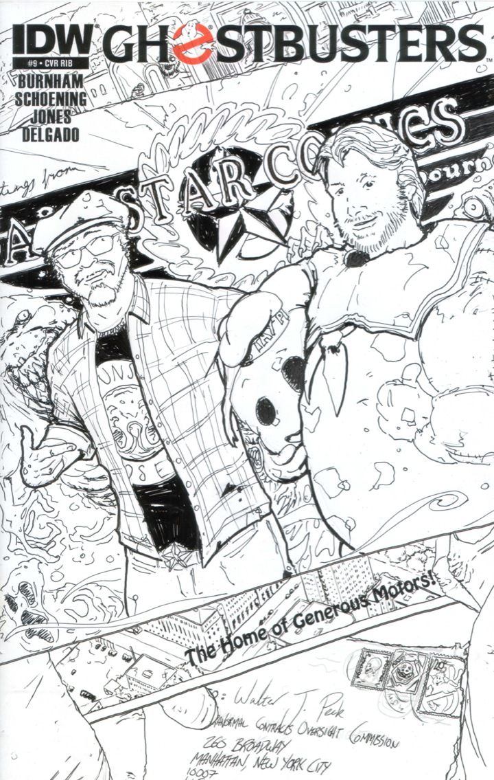 Ghostbusters #9 Sketch Cover 1 by T-RexJones