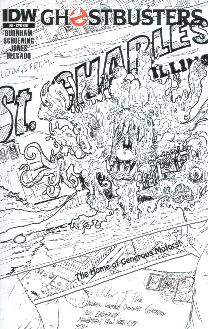 Ghostbusters #9 Sketch Cover 2 by T-RexJones