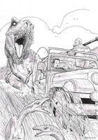 Tyrannosaur Chase by T-RexJones