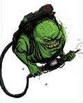 Slimer with pack