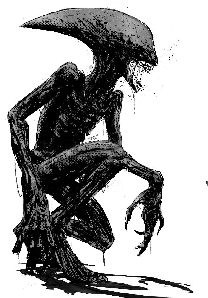 Xenomorph Vs Deacon Deacon by T-Rex...