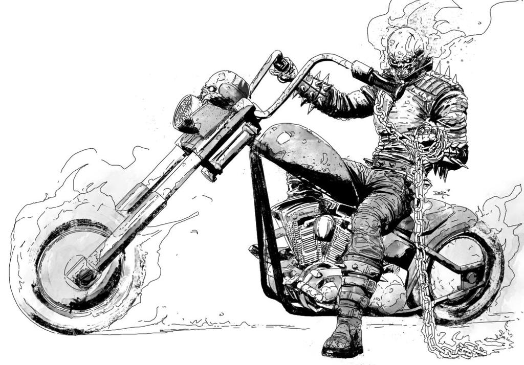 The Ghost Rider 670072690 on Superheroes Worksheets Line