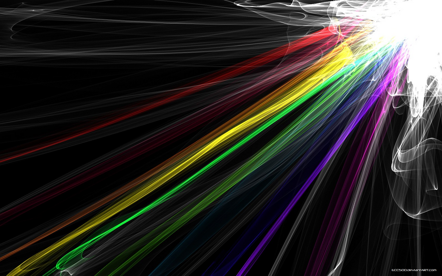 Rainbow Abstract Wallpaper. by ECC500