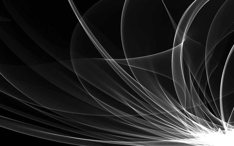 Black White Abstract W...