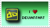 """I Love deviantART"" Stamp. by ECC500"