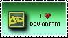 'I Love deviantART' Stamp. by ECC500