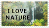 """I love Nature"" Stamp. by ECC500"