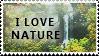 'I love Nature' Stamp. by ECC500