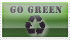 """Go Green"" Stamp. by ECC500"