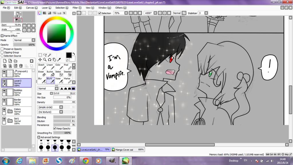 WIP: I'm a vampire by LoveLoveGetU
