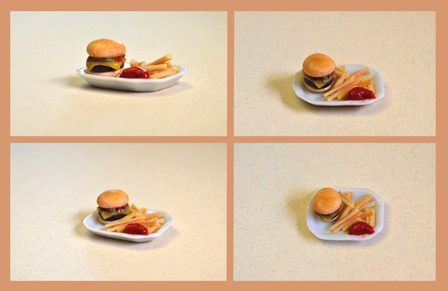 Miniature Cheeseburger by PoppyCorn99