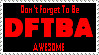 DFTBA stamp by otakuspirit