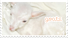 Goat stamp by pinkudeer