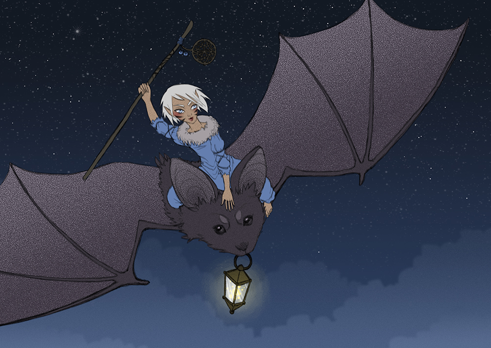 Bat Riding by Nimiaka