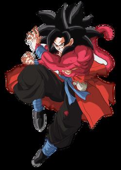 Goku Xeno Ssj4 by Andrewdb13
