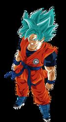 Goku Heroes Ssj Blue by Andrewdb13