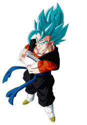 Vegetto Heroes Ssj Blue by Andrewdb13