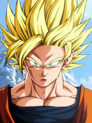 Goku Ssj2 Dragon Ball Super Broly by Andrewdb13