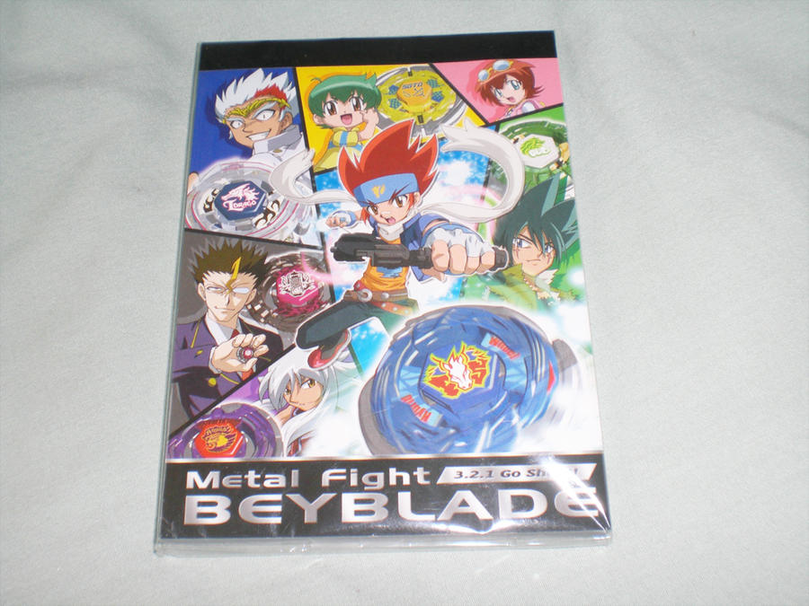 Official Metal Fight Beyblade Notepad by Kyouseme-Arasaki
