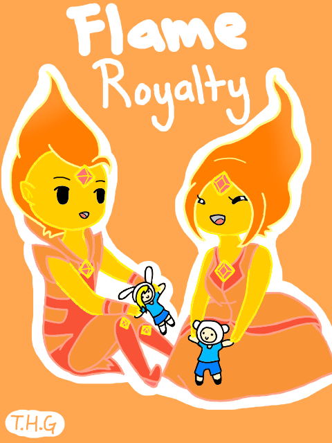 Chibi Flame Prince and princess by The-Human-Girl