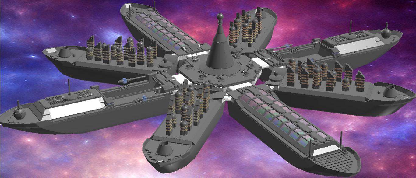 Akkad class city ship by Drake-Wyvern