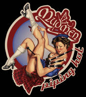 Retro bagpippin pinup by crosbyillustrates