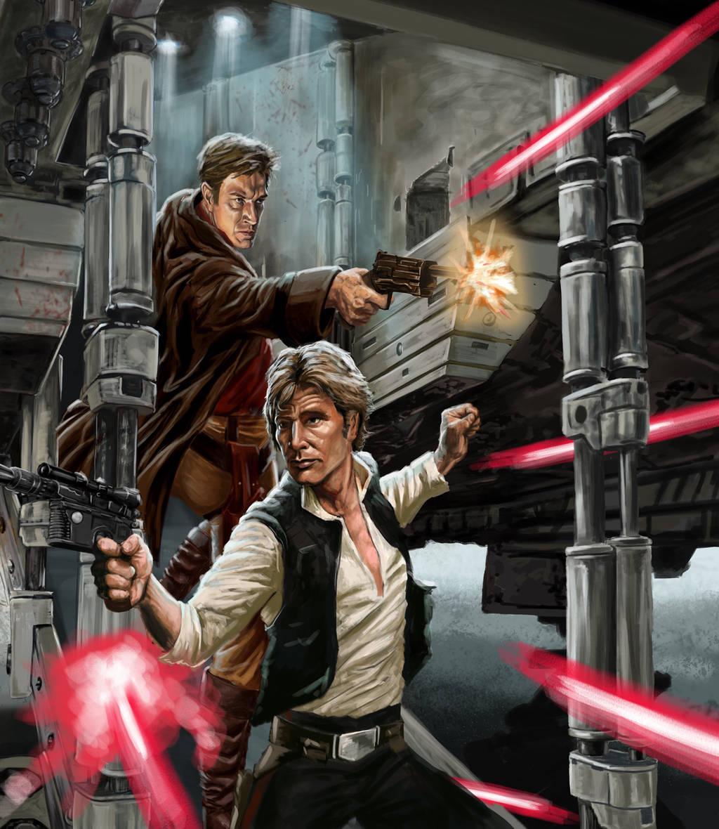 Han Solo  Malcom Reylonds by crosbyillustrates