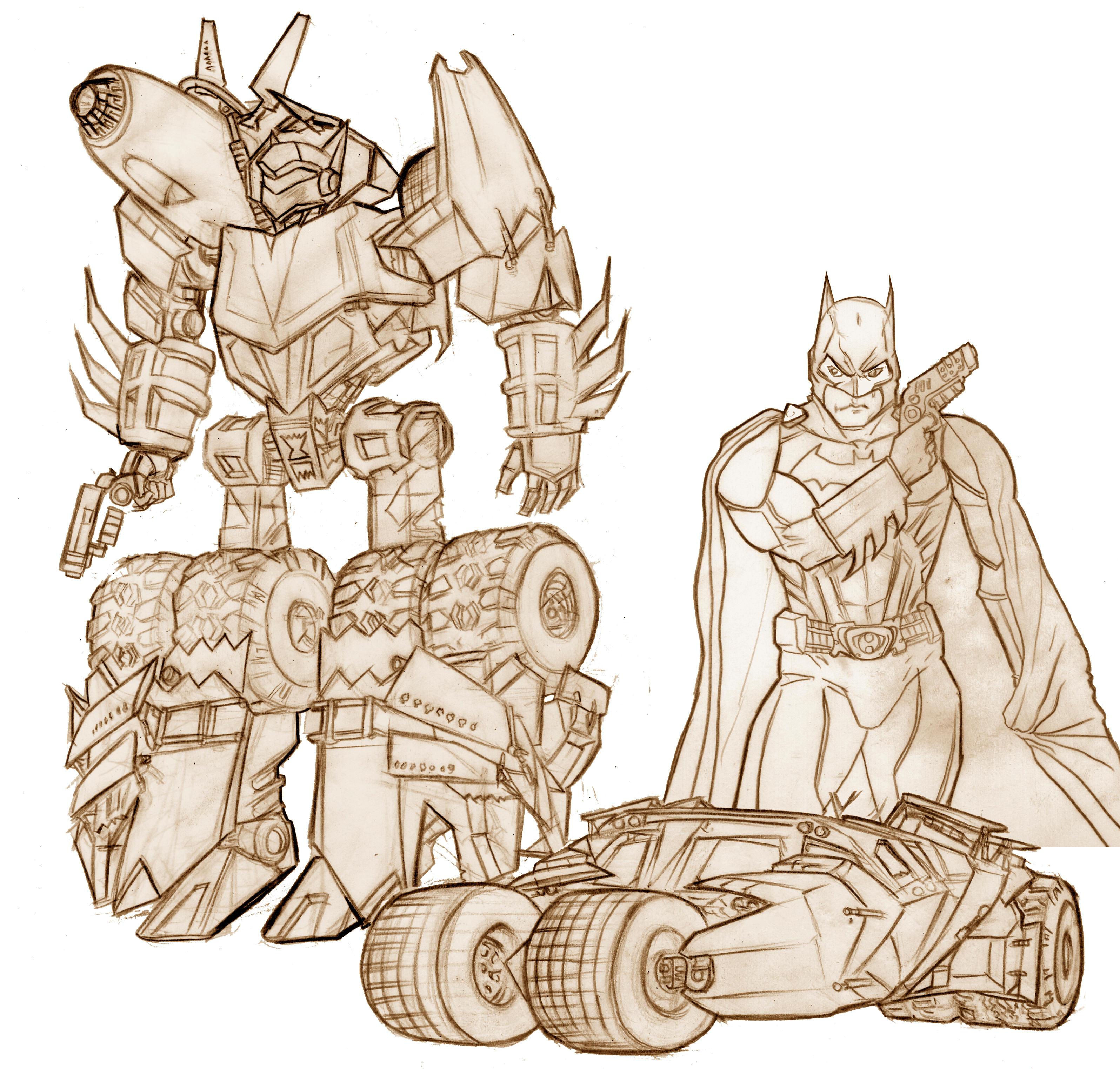 batmoBale batman transformer by southpawdragon