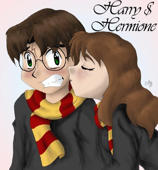 Harry and Hermione Version2 by cowgirlem