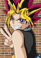 Yami Yugi Over shoulder by cowgirlem
