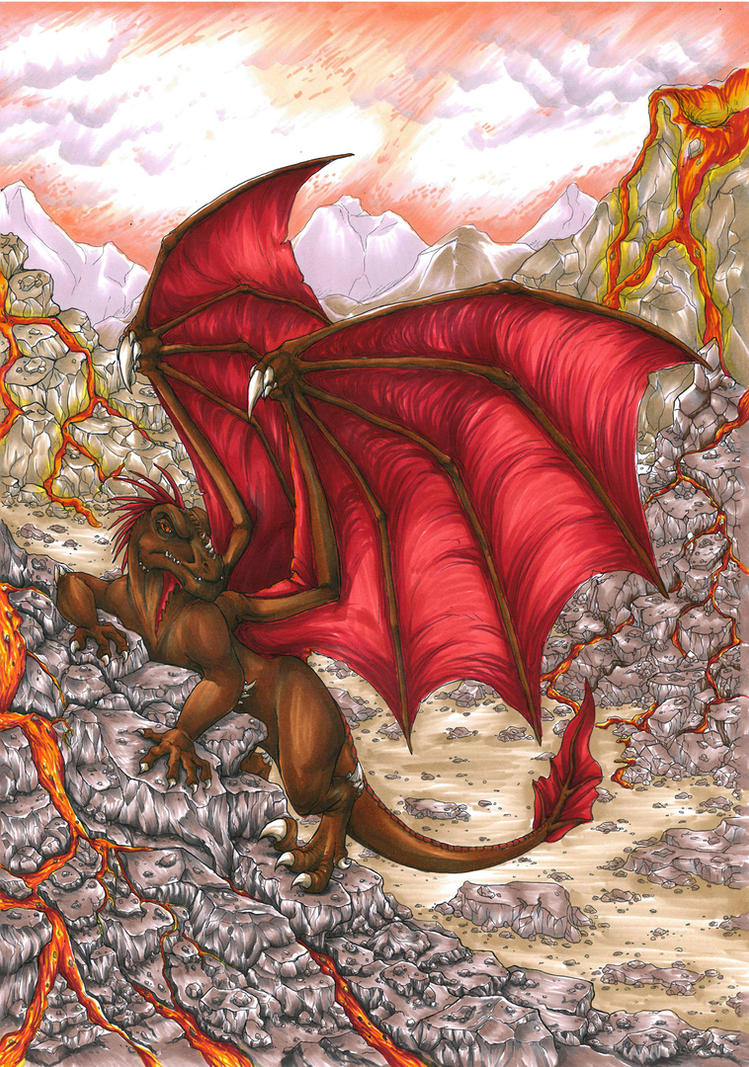 Volcano Dragon by cowgirlem
