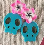 Sugar Skull and Flower Earring