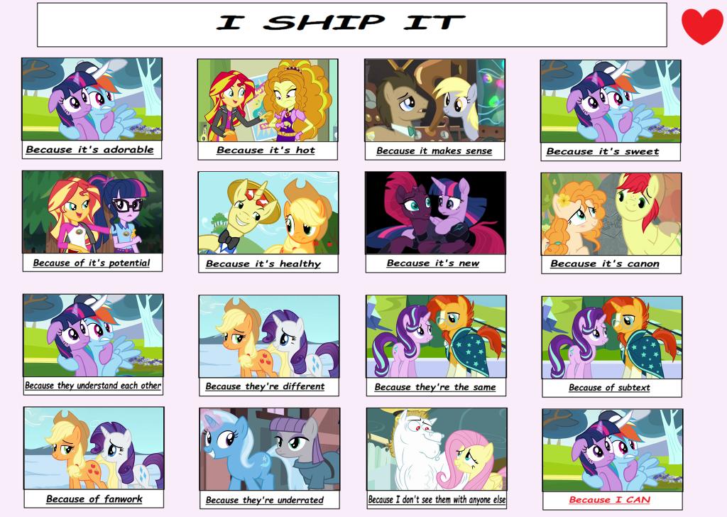 l + I ship it meme + l MLP  by Mintoria