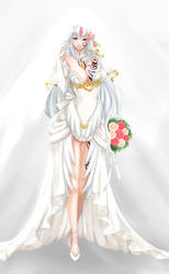 Human Alice in Wedding Dress