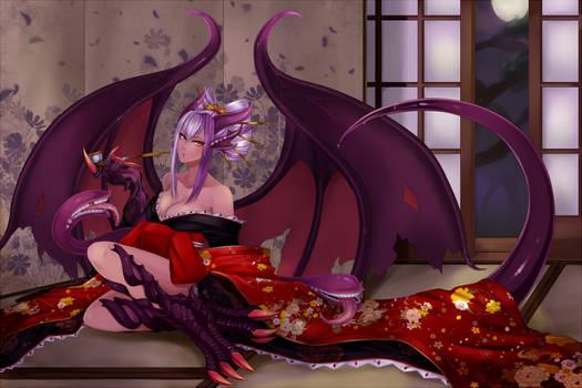 [Commission] Jabberwock in Kimono