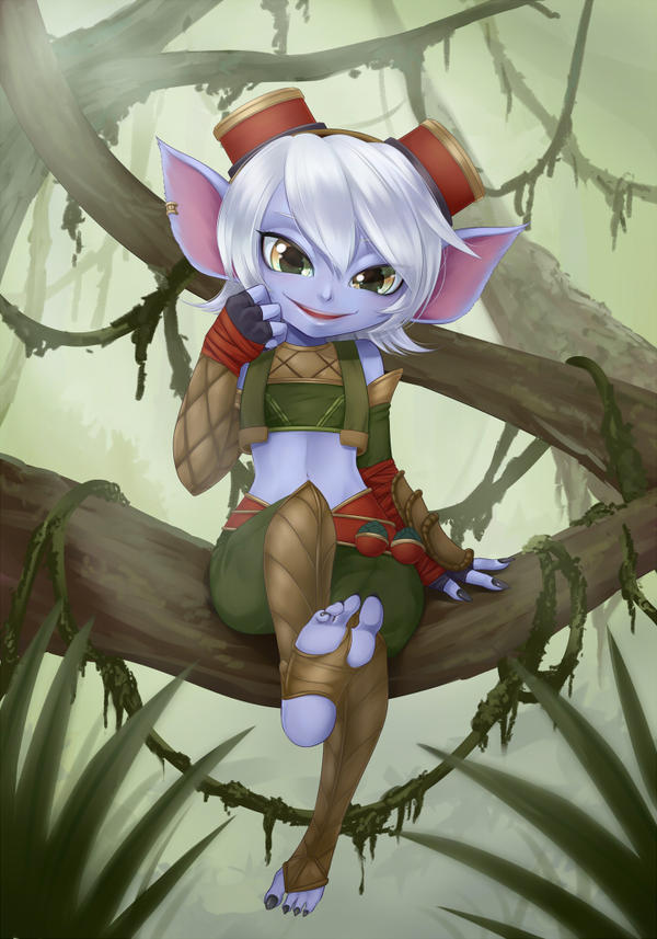 [Commission] Tristana on Tree by mogucho on DeviantArt