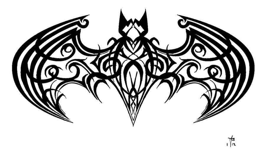 tribal batman by mercurianangel on deviantart. Black Bedroom Furniture Sets. Home Design Ideas