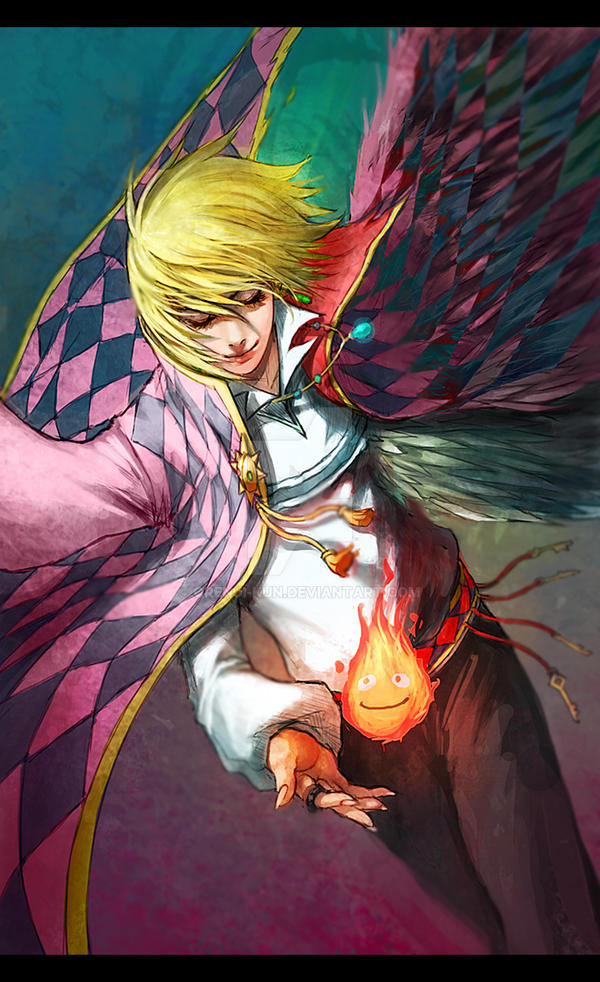+Howl and Calcifer+ by Orenji-kun