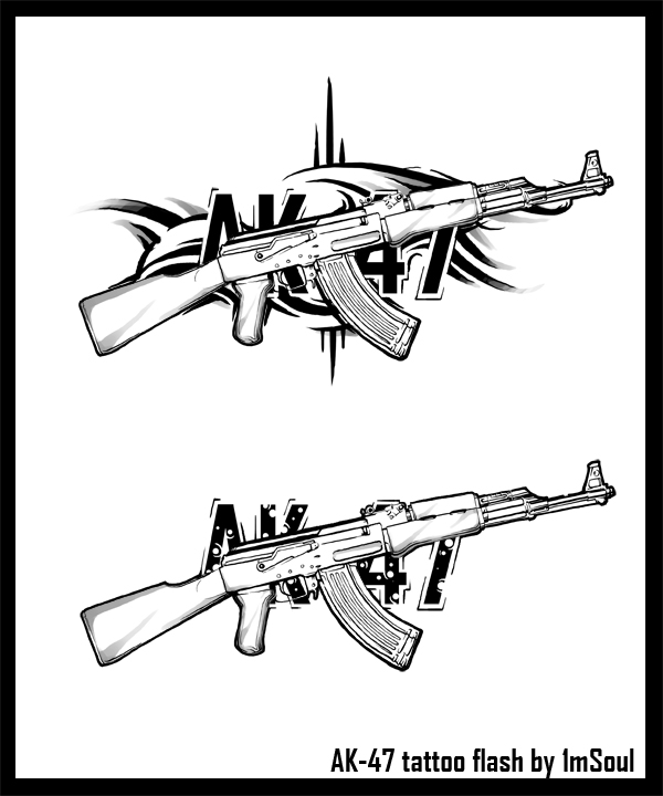 The gallery for ak 47 tattoo for Ak tattoo gun