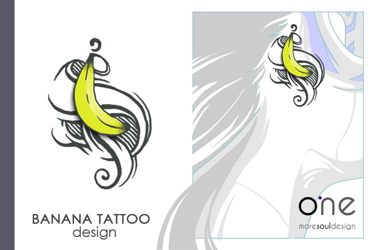 banana tattoo design by 1msoul on deviantart. Black Bedroom Furniture Sets. Home Design Ideas