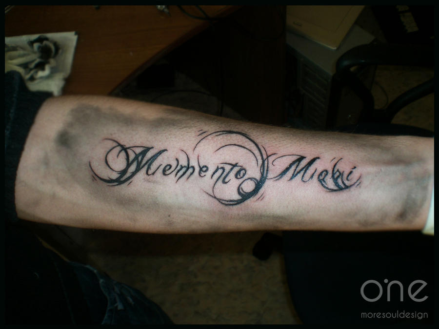 memento tattoo. Memento Latin Tattoo