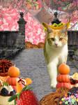 Cat dreamworld - photo manipulation poster
