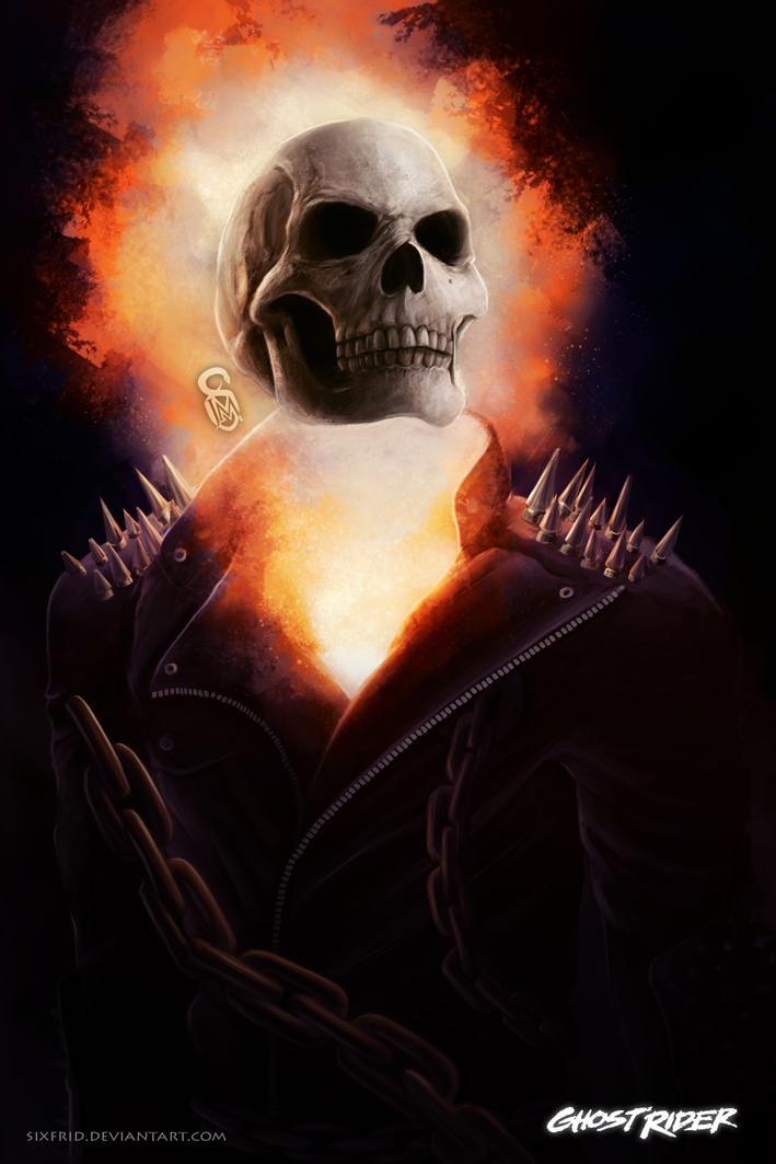 40 Spectacular Digital Paintings And Illustrations Of ...  |Ghost Rider Digital Painting Photoshop