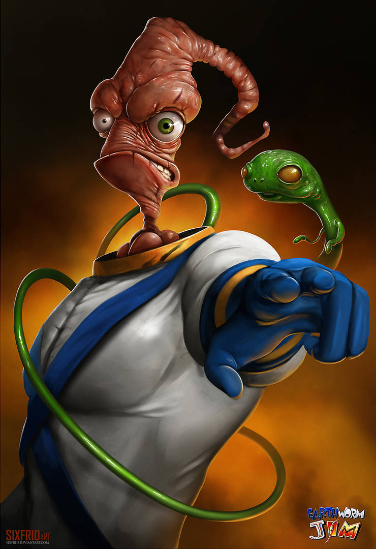 Earthworm Jim by sixfrid