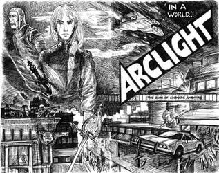 Arclight: cover sketch by mandolia